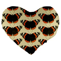 Butterfly Butterflies Insects Large 19  Premium Heart Shape Cushions