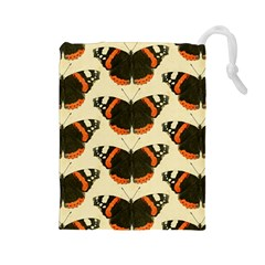 Butterfly Butterflies Insects Drawstring Pouches (large)