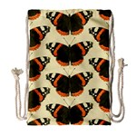 Butterfly Butterflies Insects Drawstring Bag (Large) Front