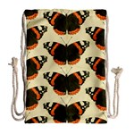 Butterfly Butterflies Insects Drawstring Bag (Large) Back