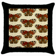 Butterfly Butterflies Insects Throw Pillow Case (black)