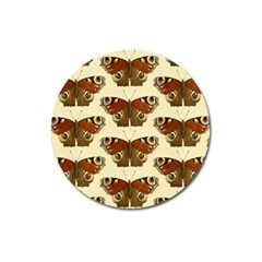 Butterfly Butterflies Insects Magnet 3  (round)