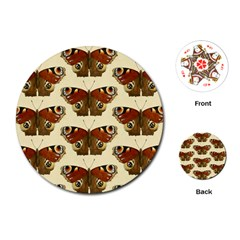 Butterfly Butterflies Insects Playing Cards (round)