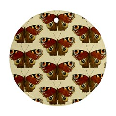 Butterfly Butterflies Insects Round Ornament (two Sides)