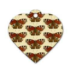 Butterfly Butterflies Insects Dog Tag Heart (two Sides)