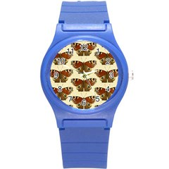 Butterfly Butterflies Insects Round Plastic Sport Watch (s)