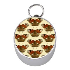 Butterfly Butterflies Insects Mini Silver Compasses
