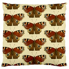 Butterfly Butterflies Insects Large Flano Cushion Case (one Side)