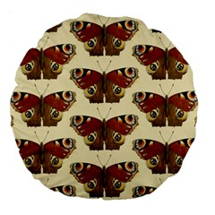 Butterfly Butterflies Insects Large 18  Premium Flano Round Cushions