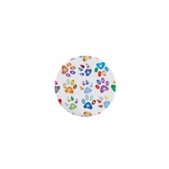Colorful Prismatic Rainbow Animal 1  Mini Buttons