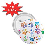 Colorful Prismatic Rainbow Animal 1 75  Buttons (10 Pack)