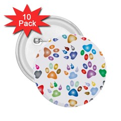 Colorful Prismatic Rainbow Animal 2.25  Buttons (10 pack)