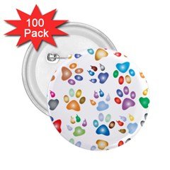 Colorful Prismatic Rainbow Animal 2.25  Buttons (100 pack)