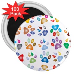 Colorful Prismatic Rainbow Animal 3  Magnets (100 pack)