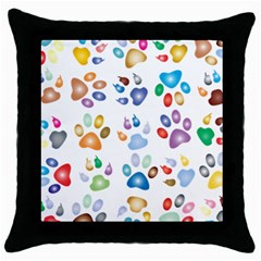 Colorful Prismatic Rainbow Animal Throw Pillow Case (Black)