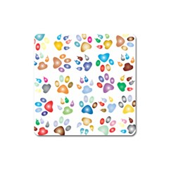 Colorful Prismatic Rainbow Animal Square Magnet