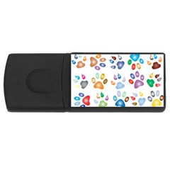 Colorful Prismatic Rainbow Animal Usb Flash Drive Rectangular (4 Gb)