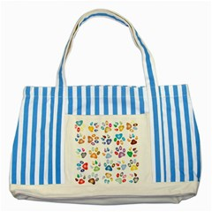 Colorful Prismatic Rainbow Animal Striped Blue Tote Bag