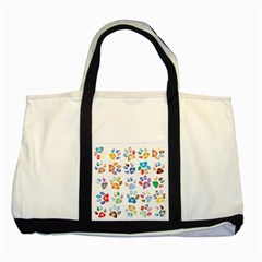 Colorful Prismatic Rainbow Animal Two Tone Tote Bag