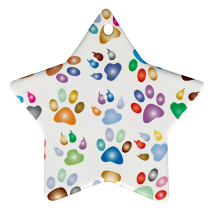 Colorful Prismatic Rainbow Animal Star Ornament (Two Sides)