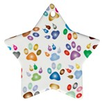 Colorful Prismatic Rainbow Animal Star Ornament (Two Sides) Back
