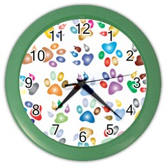 Colorful Prismatic Rainbow Animal Color Wall Clocks