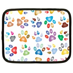 Colorful Prismatic Rainbow Animal Netbook Case (large)