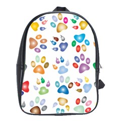Colorful Prismatic Rainbow Animal School Bags(large)