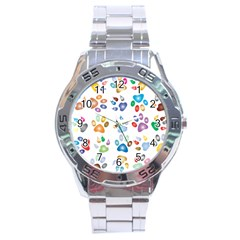 Colorful Prismatic Rainbow Animal Stainless Steel Analogue Watch