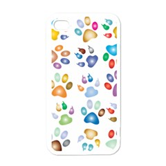 Colorful Prismatic Rainbow Animal Apple Iphone 4 Case (white)