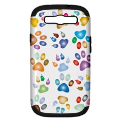 Colorful Prismatic Rainbow Animal Samsung Galaxy S Iii Hardshell Case (pc+silicone)