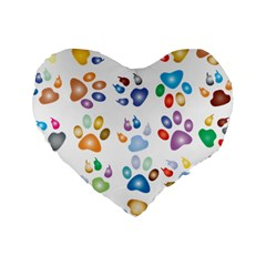 Colorful Prismatic Rainbow Animal Standard 16  Premium Heart Shape Cushions