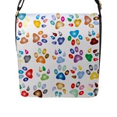 Colorful Prismatic Rainbow Animal Flap Messenger Bag (l)