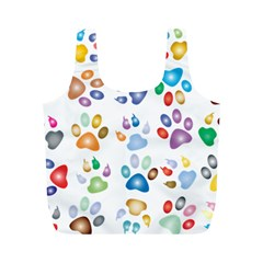 Colorful Prismatic Rainbow Animal Full Print Recycle Bags (m)