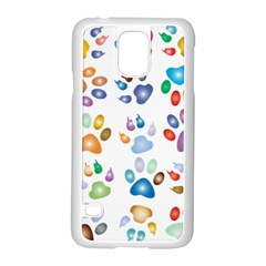 Colorful Prismatic Rainbow Animal Samsung Galaxy S5 Case (white)