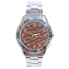 Elephant Skin Stainless Steel Analogue Watch