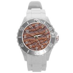 Elephant Skin Round Plastic Sport Watch (l)