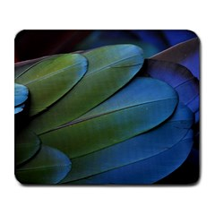 Feather Parrot Colorful Metalic Large Mousepads