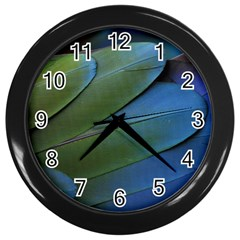 Feather Parrot Colorful Metalic Wall Clocks (black)