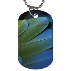 Feather Parrot Colorful Metalic Dog Tag (One Side)