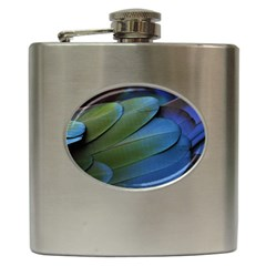 Feather Parrot Colorful Metalic Hip Flask (6 Oz)