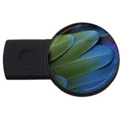 Feather Parrot Colorful Metalic Usb Flash Drive Round (2 Gb)