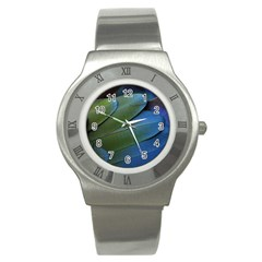 Feather Parrot Colorful Metalic Stainless Steel Watch