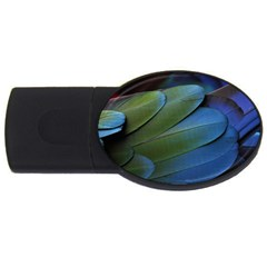 Feather Parrot Colorful Metalic Usb Flash Drive Oval (4 Gb)