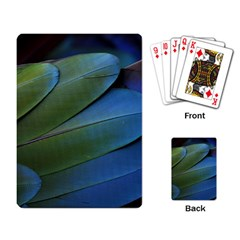 Feather Parrot Colorful Metalic Playing Card