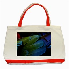 Feather Parrot Colorful Metalic Classic Tote Bag (Red)