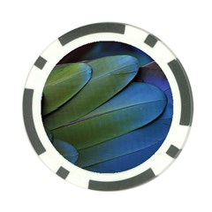 Feather Parrot Colorful Metalic Poker Chip Card Guard