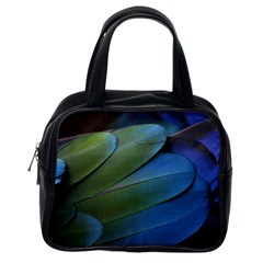 Feather Parrot Colorful Metalic Classic Handbags (one Side)