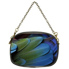 Feather Parrot Colorful Metalic Chain Purses (one Side)