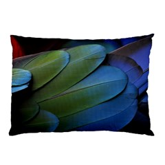 Feather Parrot Colorful Metalic Pillow Case